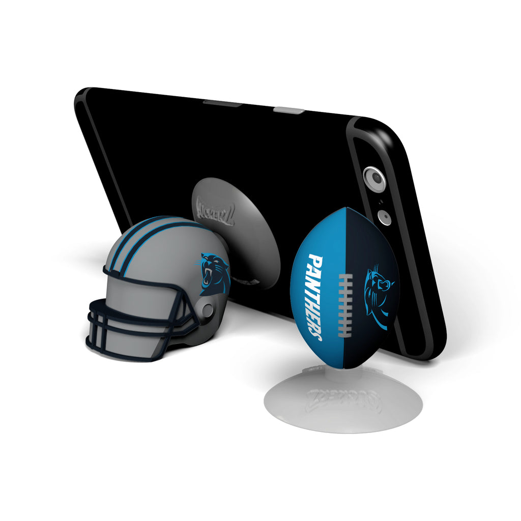 Carolina Panthers 2-Pack Football & Helmet Suckerz - Prime Brands Group