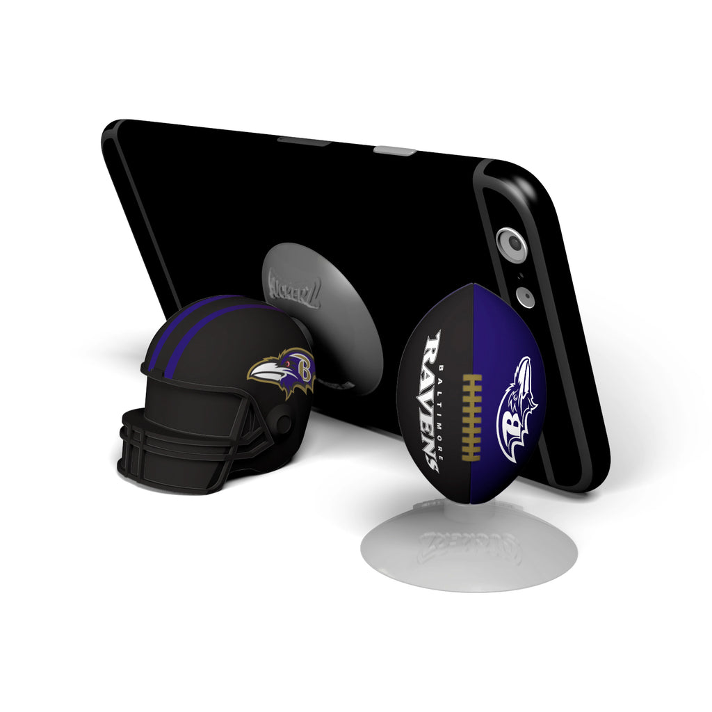 Baltimore Ravens 2-Pack Football & Helmet Suckerz