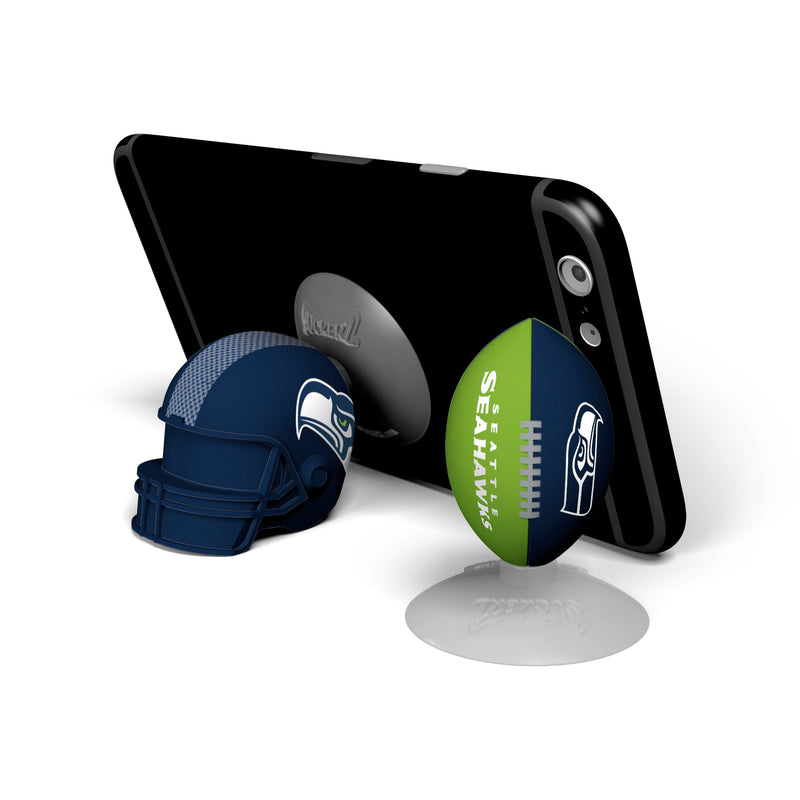 Seattle Seahawks 2-Pack Football & Helmet Suckerz