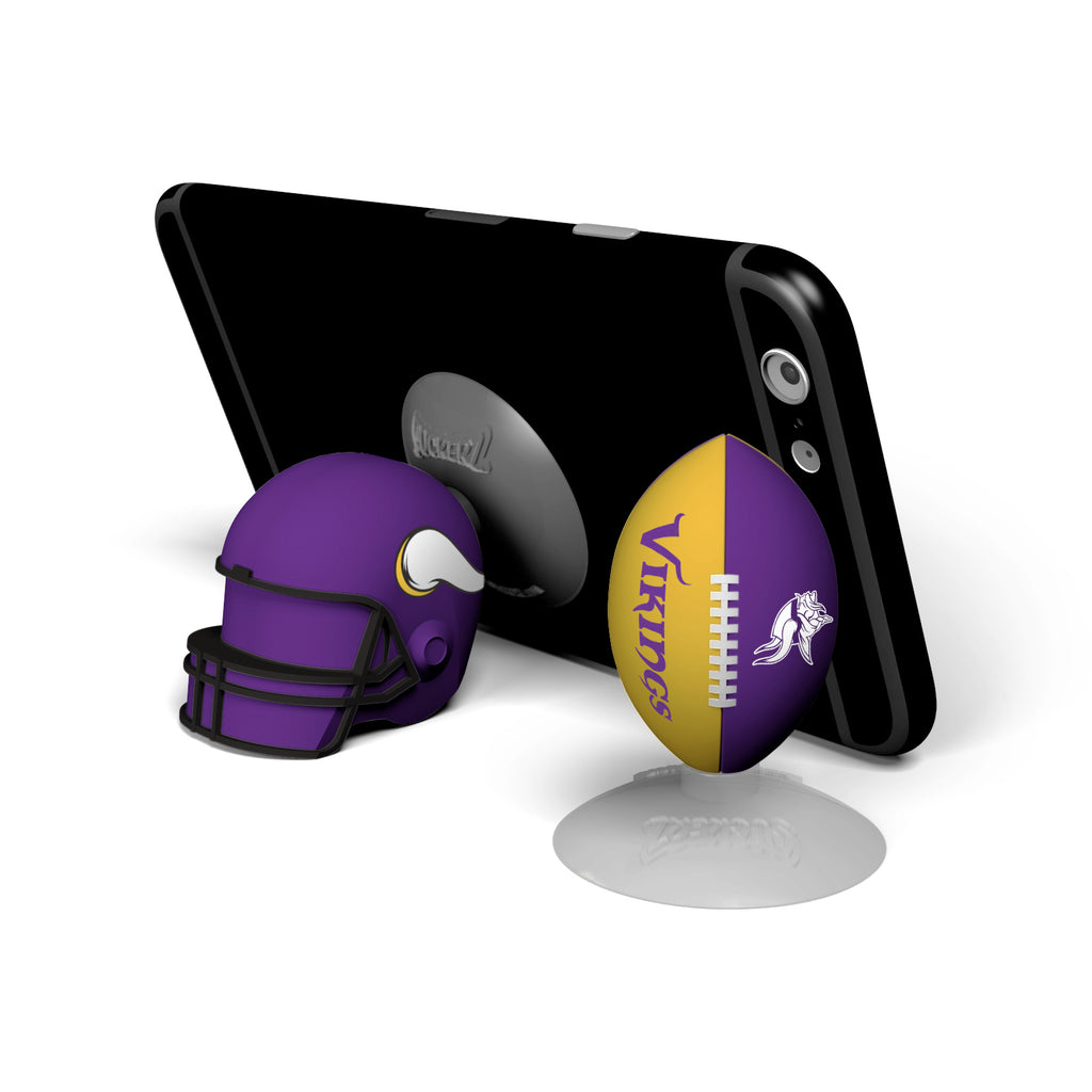 Minnesota Vikings 2-Pack Football & Helmet Suckerz - Prime Brands Group