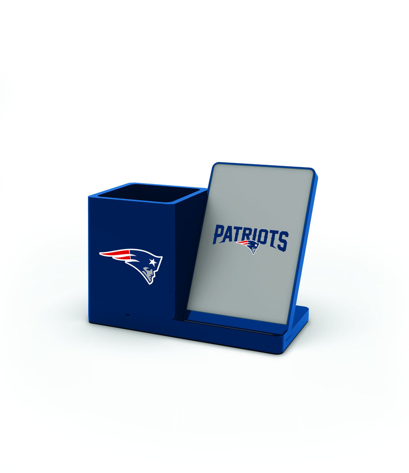 New England Patriots Wireless Charging Pen Holder - Prime Brands Group