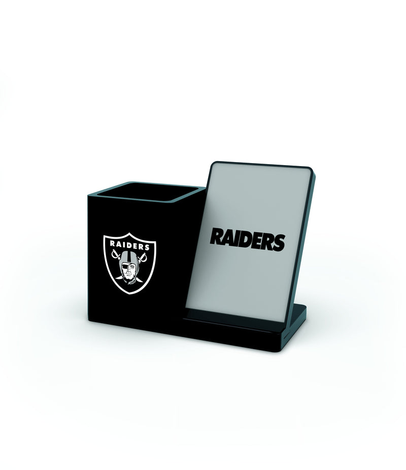 Oakland Raiders Wireless Charging Pen Holder - Prime Brands Group