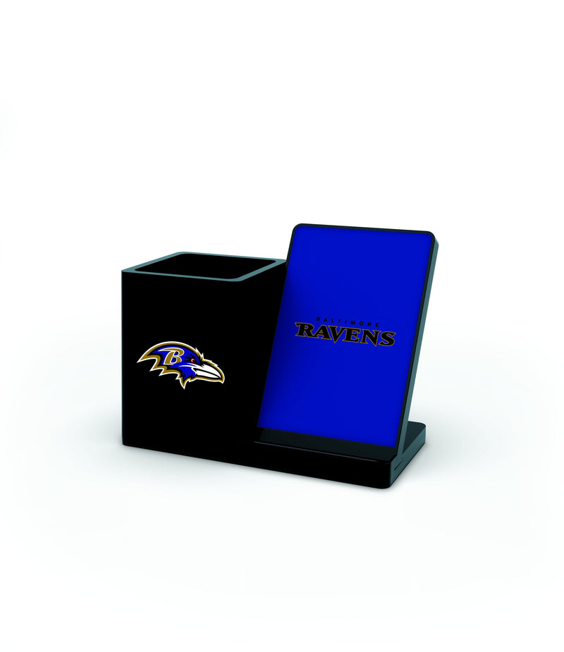 Baltimore Ravens Wireless Charging Pen Holder - Prime Brands Group