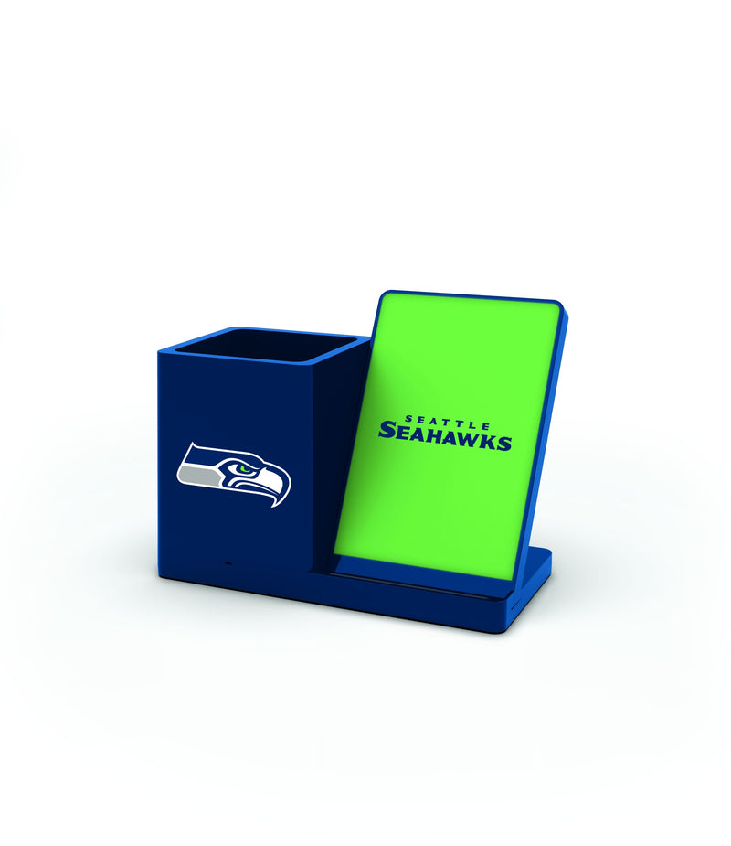 Seattle Seahawks Wireless Charging Pen Holder - Prime Brands Group