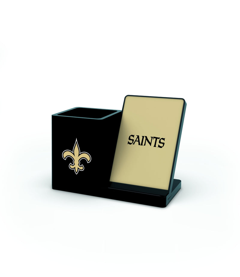 New Orlean Saints Wireless Charging Pen Holder - Prime Brands Group