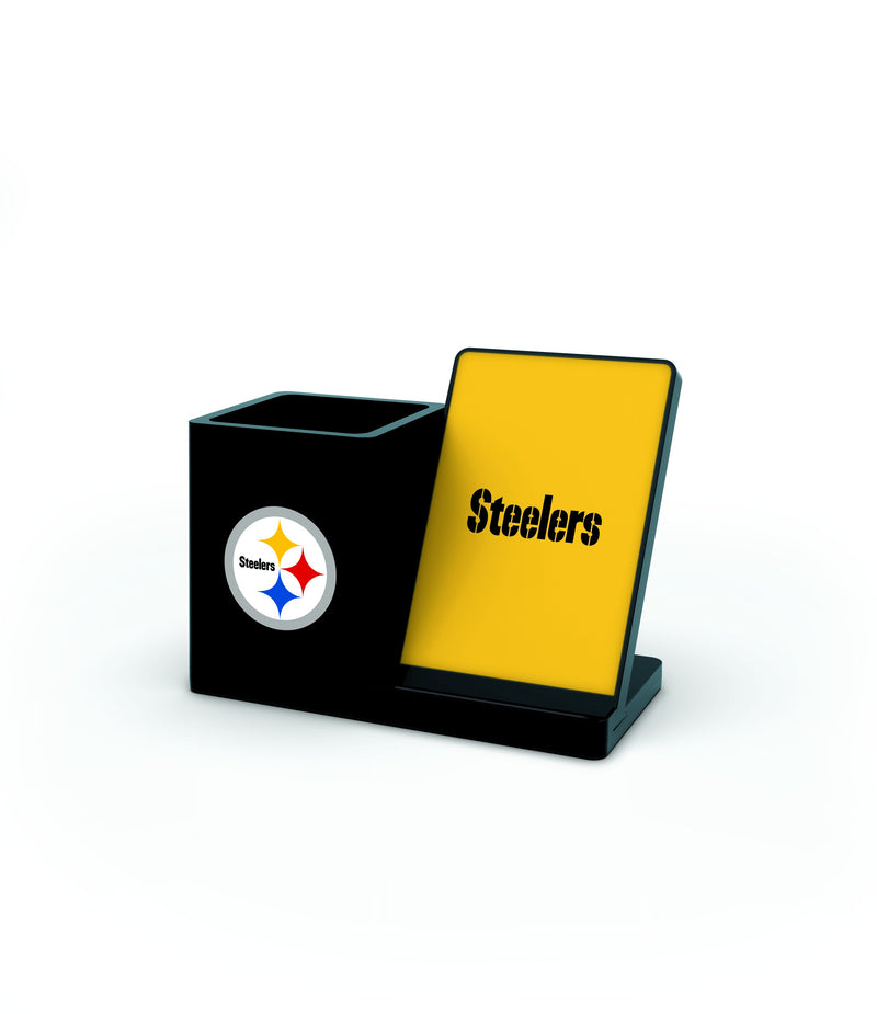 Pittsburgh Steelers Wireless Charging Pen Holder - Prime Brands Group