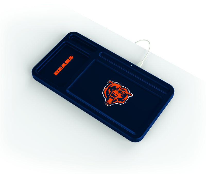 Chicago Bears Wireless Charging Desk Valet - Prime Brands Group