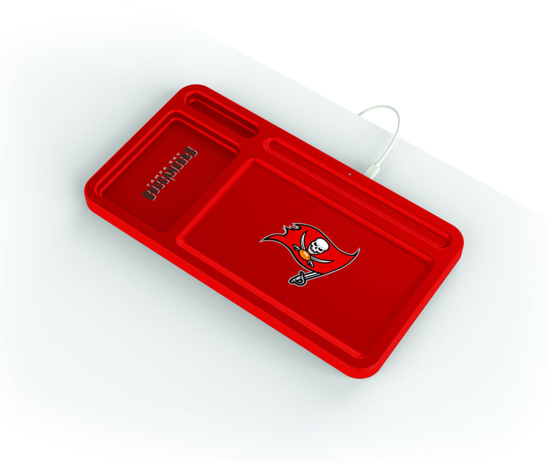 Tampa Bay Buccaneers Wireless Charging Desk Valet - Prime Brands Group