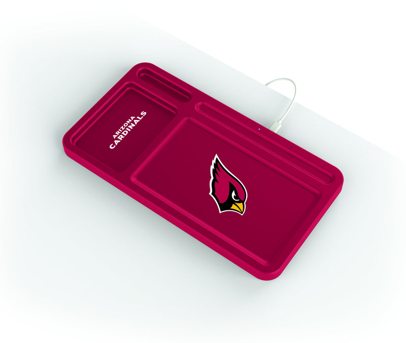 Arizona Cardinals Wireless Charging Desk Valet - Prime Brands Group
