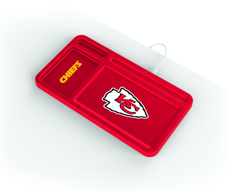 Kansas City Chiefs Wireless Charging Desk Valet - Prime Brands Group
