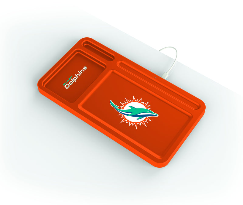 Miami Dolphins Wireless Charging Desk Valet - Prime Brands Group
