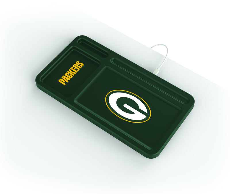 Green Bay Packers Wireless Charging Desk Valet - Prime Brands Group