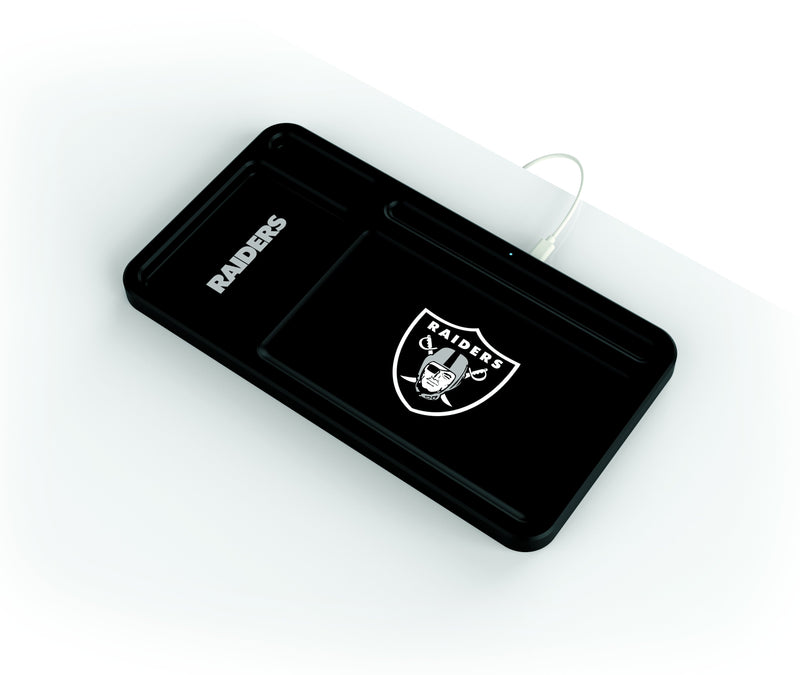 Oakland Raiders Wireless Charging Desk Valet - Prime Brands Group