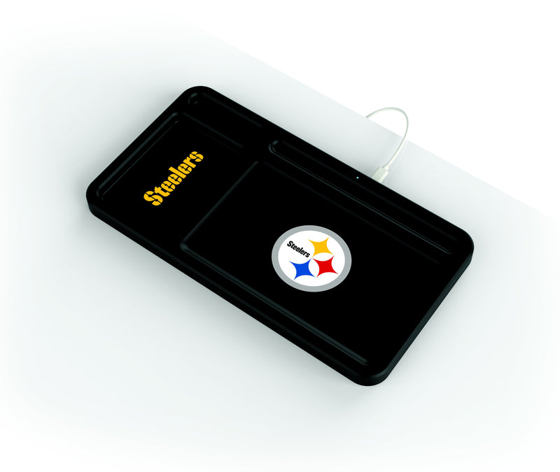 Pittsburgh Steelers Wireless Charging Desk Valet - Prime Brands Group