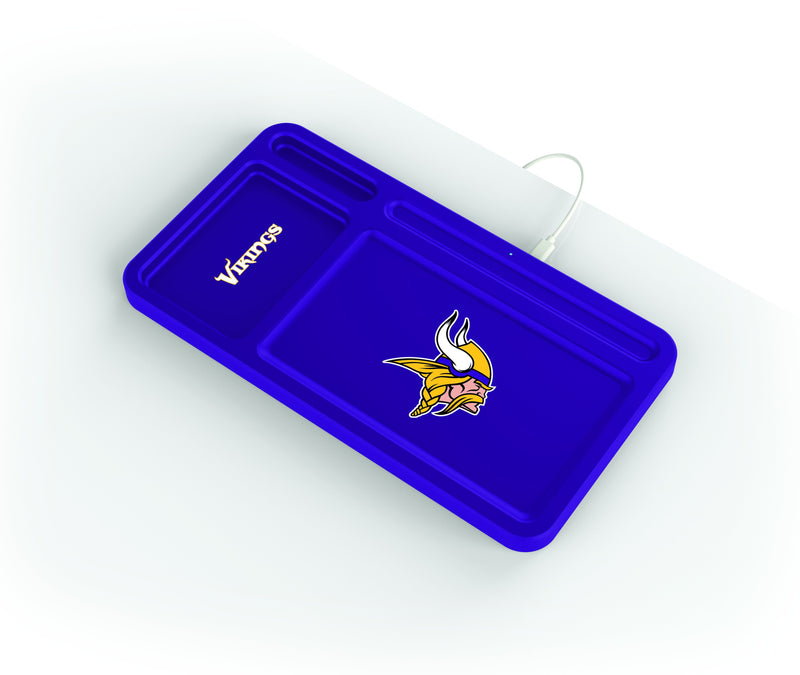 Minnesota Vikings Wireless Charging Desk Valet - Prime Brands Group
