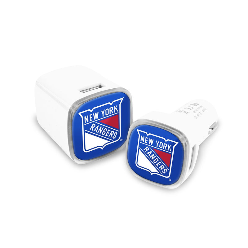 New York Rangers Car and Wall Chargers - Prime Brands Group