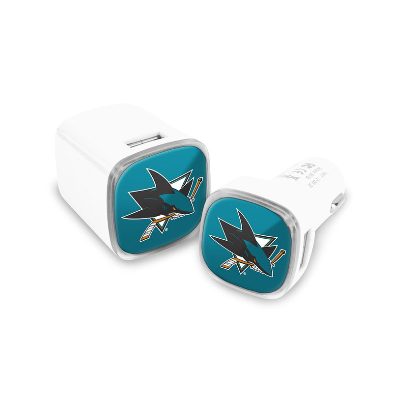 San Jose Sharks Car and Wall Chargers - Prime Brands Group
