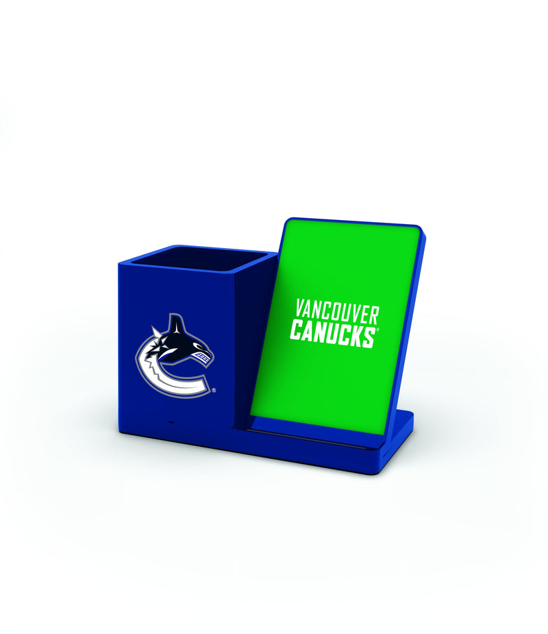 Vancouver Canucks Wireless Charging Pen Holder - Prime Brands Group