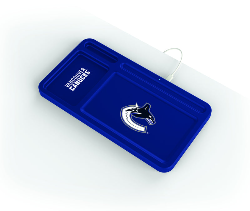 Vancouver Canucks Wireless Charging Desk Valet - Prime Brands Group