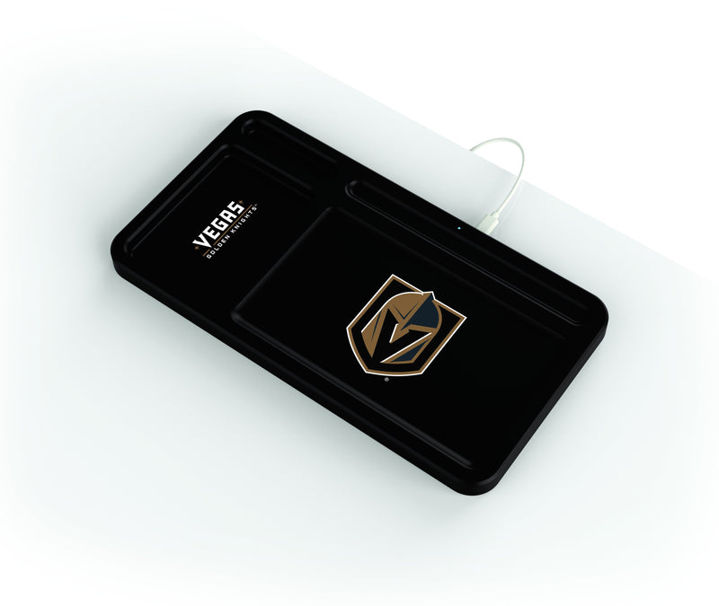 Vegas Golden Knights Wireless Charging Desk Valet - Prime Brands Group