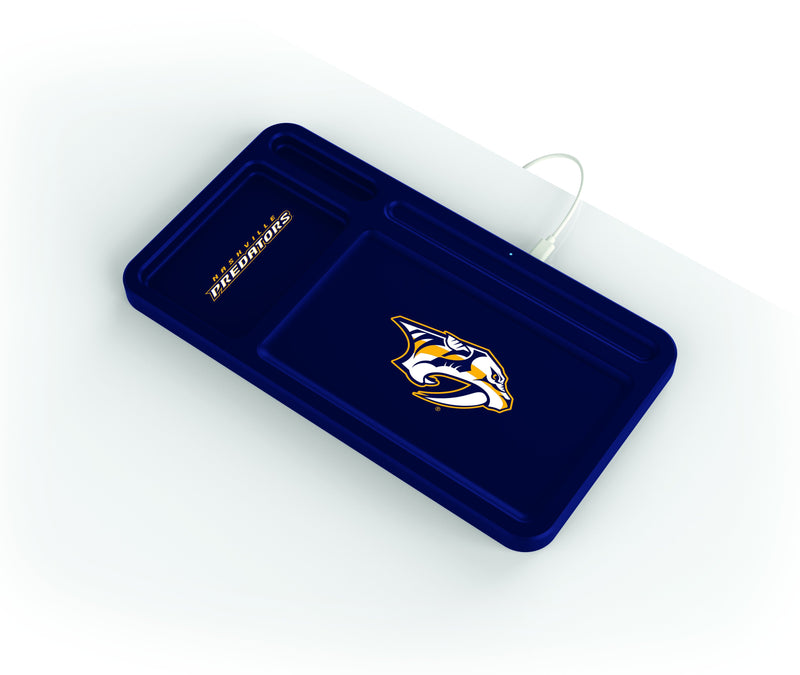 Nashville Predators Wireless Charging Desk Valet - Prime Brands Group