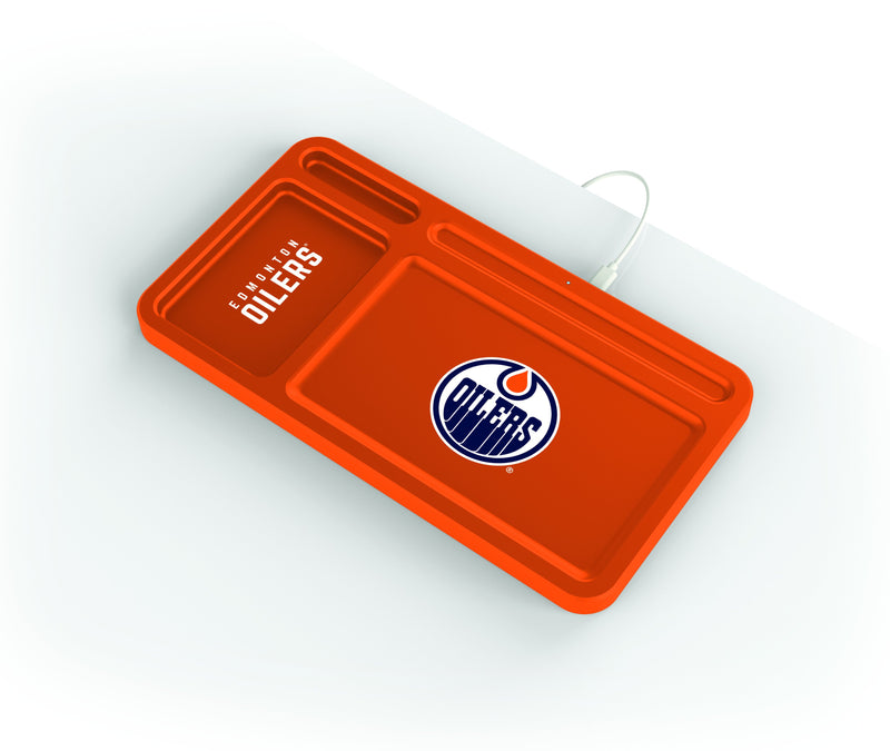 Edmonton Oilers Wireless Charging Desk Valet - Prime Brands Group