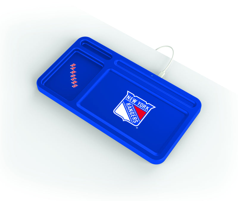 NY Rangers Wireless Charging Desk Valet - Prime Brands Group