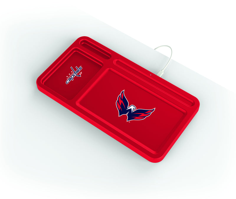 Washington Capitals Wireless Charging Desk Valet - Prime Brands Group
