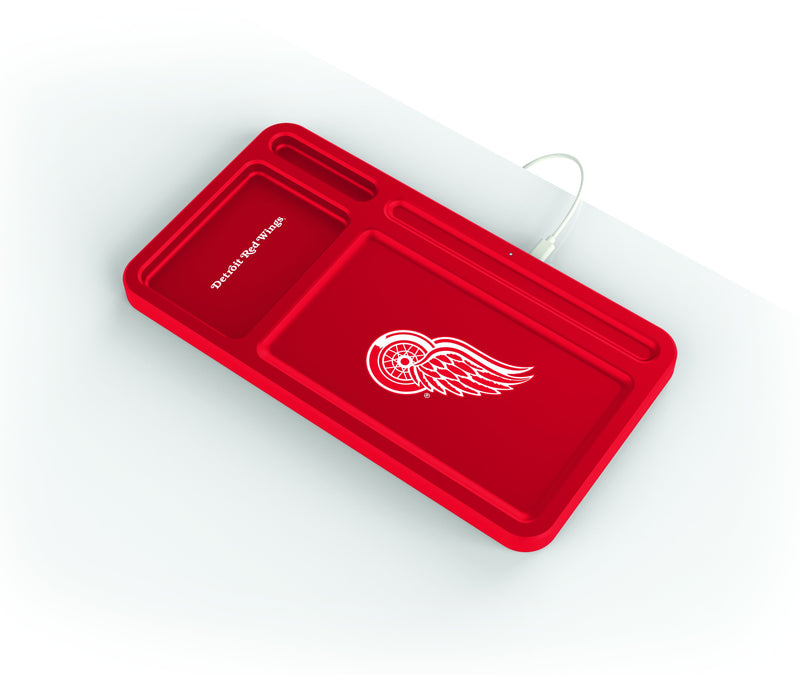 Detroit Red Wings Wireless Charging Desk Valet - Prime Brands Group