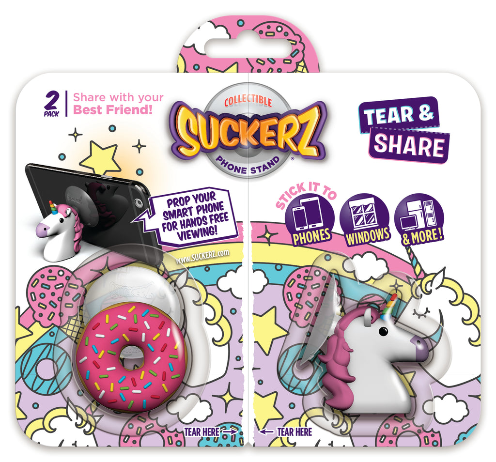 BFF 2-Pack Donut & Unicorn Suckerz