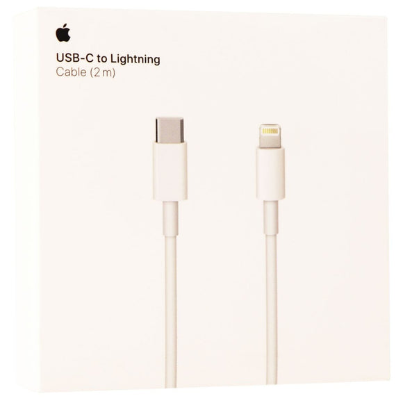 Apple - 2 m USB Type C-to-Lightning Charging Cable - White