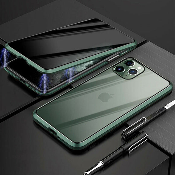 Privacy Magnetic Glass case iPhone 11 Pro (Green)