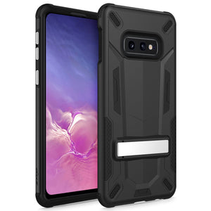 SAMSUNG GALAXY S10E CASE - TRANSFORM SERIES WITH KICKSTAND AND UV COATED PC/TPU LAYERS