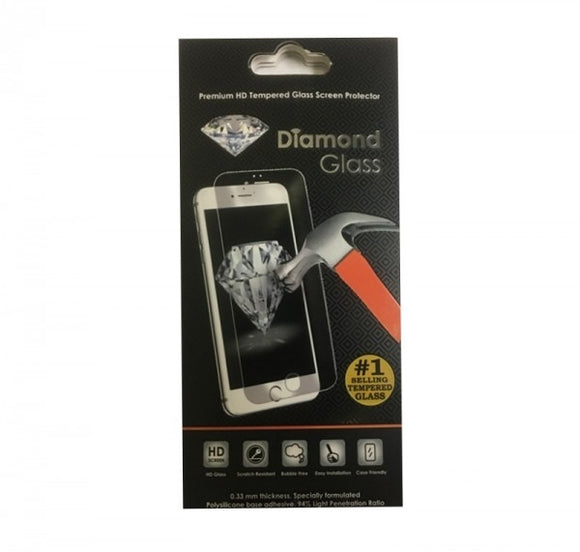 Diamond Glass Screen Protector iPhone iPhone 7/8- Black Frame