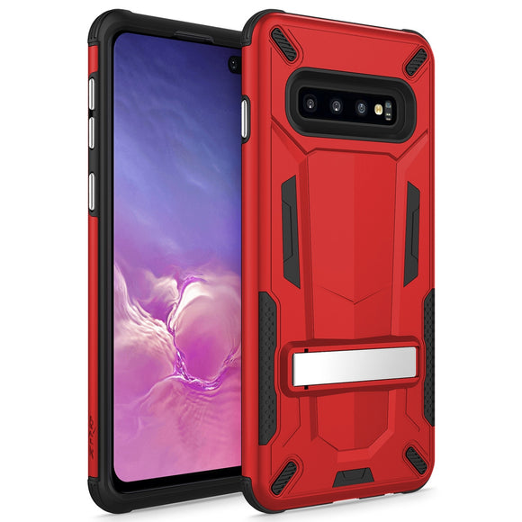 SAMSUNG GALAXY S10 PLUS CASE - TRANSFORM SERIES WITH KICKSTAND AND UV COATED PC/TPU LAYERS