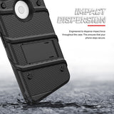 FOR GOOGLE PIXEL 3 XL - BOLT CASE WITH BUILT IN KICKSTAND HOLSTER AND FULL GLASS SCREEN PROTECTOR