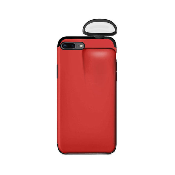 For Apple iPhone 7 8 Plus Cover For AirPods Earphone Holder Hard Case - Red
