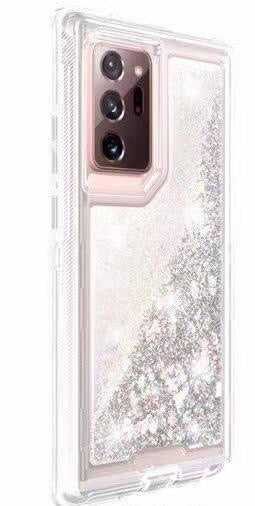 Phone Case Glitter Note 20 Ultra - Silver