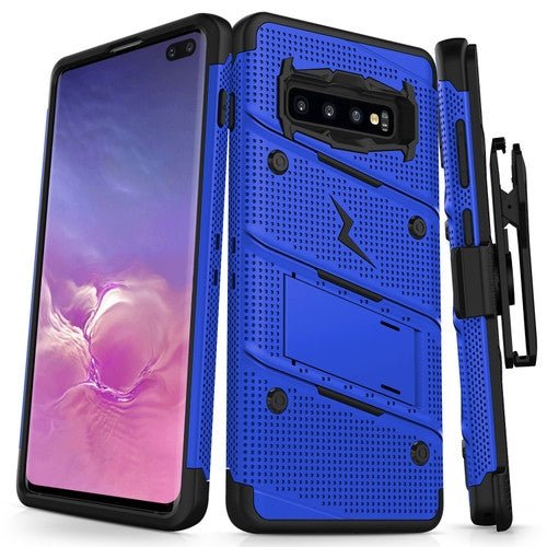 SAMSUNG GALAXY S10 PLUS - BOLT CASE WITH BUILT IN KICKSTAND HOLSTER