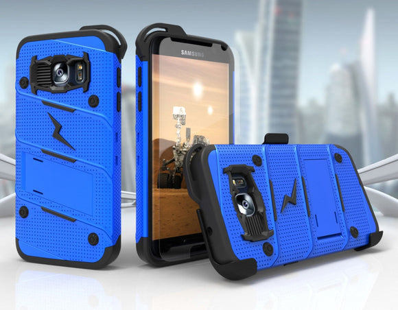 Zizo BOLT Case for Samsung Galaxy S7 w/ Holster and Tempered Glass