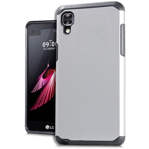LG X Power K210 Slim Case Style 2 Metallic Silver