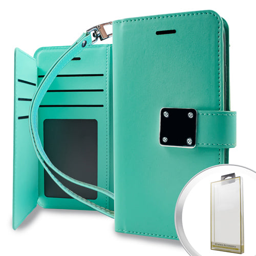 Samsung Galaxy J3 Prime - Deluxe Wallet Case With Holder Teal
