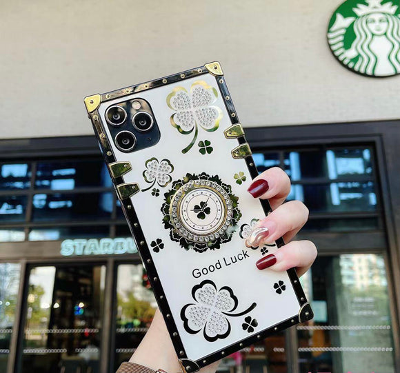 iPhone 12/12 Pro Ring Clover Leaf White Case