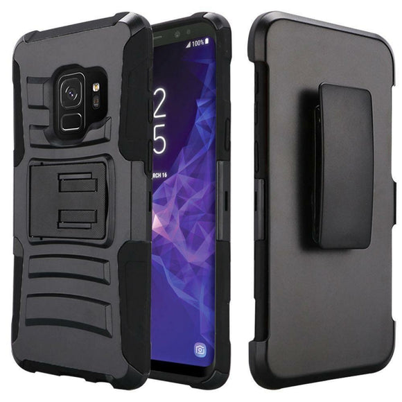 Rugged Tactical Holster Clip Case Combo for Samsung Galaxy S9 Galaxy S9 Plus S9+