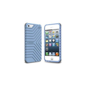 Puregear 60137PG Griptek Case for iPhone 5 - 1 Pack - Retail Packaging - Blue