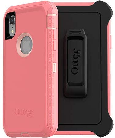 OtterBox Defender Series Screenless Edition Case for iPhone XR (Pink Lemonade)