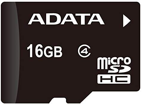 ADATA 16GB microSDHC Class 4 Memory Card with Adaptor (AUSDH16GCL4-RA1)