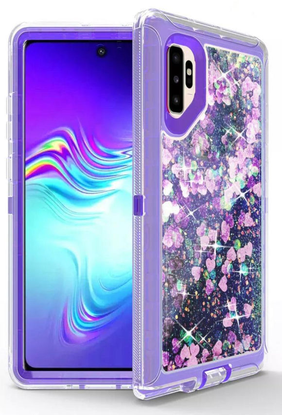 Phone cases for Samsung Note 10 Plus - Glitter Purple