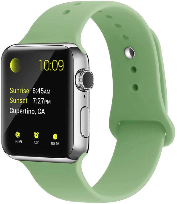 Apple Watch Silicone band 44mm 40mm series 5/4/3/2 - Mint Green