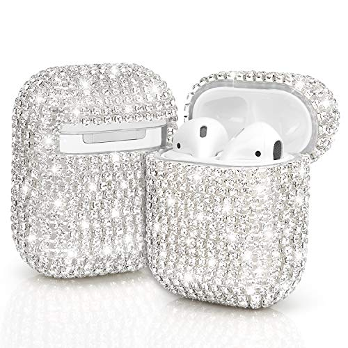 Airpod Diamond Case- Silver